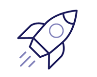 credit building rocket icon